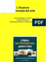 L'illusione dell'energia dal sole