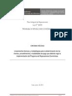 Lineamientos Programa de Reparaciones Económicas