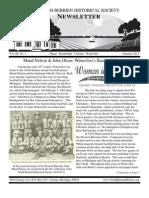 Summer 2011 Newsletter - North Berrien Historical Society