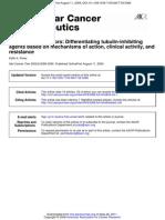 inhibidores de microtubulos