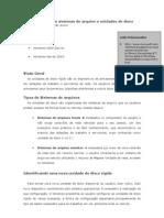 Gerenciamento de Sistemas de Arquivo e Unidades de Disco