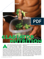 """GLADIATOR NUTRITION"" - A peak into a typical MMA fighter's diet plan"