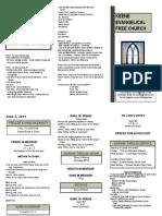 Church Bulletin - June 5th