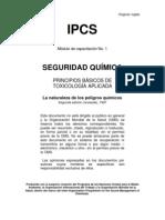 Seguridad Quimica Principios Basicos de Toxicologia Aplicada