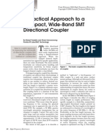 A Practical Approach to a Compact, Wide-Band SMT Directional Coupler