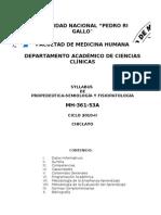 Silabo de Semiologia Unprg - 2011