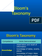Bloom's Taxonomy - Learning Skills