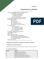 Chapitre 7 (Programmation Avec MATLAB)