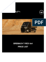 Bremach T-REX Retail Pricelist[1]