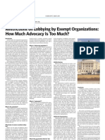 Restrictions on Lobbying by Exempt Organizations