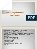 ORACLE Database Health_Query Tunning
