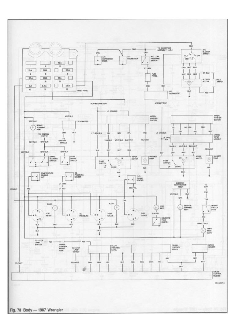 jeep wrangler yj fsm wiring diagrams. Black Bedroom Furniture Sets. Home Design Ideas