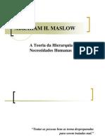 Maslow - Teoria Das Necessidades