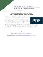 Statement from Senate Democratic Leader  John L. Sampson on Ethics Reform Agreement