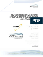 NYSERDA New York's Offshore Wind Energy Development Potential in the Great Lakes