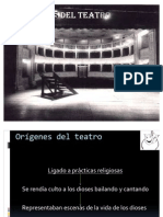 Orígenes del Teatro y sófocles