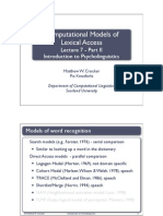 Models of Word Rec