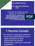 Clase Del 29 ABRIL 2010 U IX in Fine Recursos Administrativos
