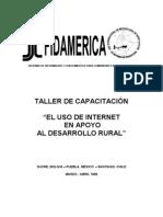 TALLER DE CAPACITACIÓN COMPUTACION RURAL