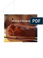 Writing a Paragraph (Handout)