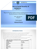 Introduction of KOSOVA Social Security