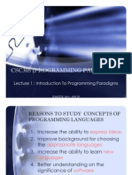 Programming Paradigms Chapter 1