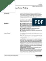 MV Transformer Testing (7200DB1001