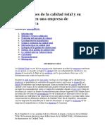 Los Enfoques de la calidad total y su aplicación en una empresa de manufactura