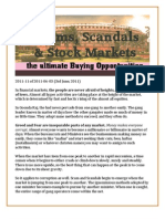 Scams, Scandals & Stock Markets - the ultimate Buy opportunity
