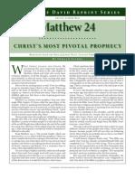 Matthew 24 Christ's Pivotal Prophecy