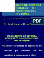 Mecanismos de Defensa Generales o Inespecificos Del Huesped