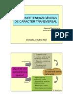 Las Competencias Basicas de Caracter Transversal