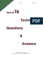 Citrix Questions