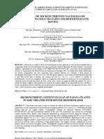 Teores de micronutrientes foliares do mamoeiro e no solo tratado com biofertilizante bovino - publicado doc1