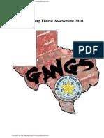 Texas Gang Threat Assement 2010