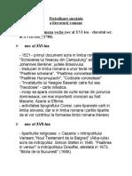 Periodizarea Lit.romanesti