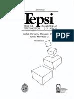 Manual Test de Desarrollo Psi Como Tor Infantil TEPSI Haeussler y Marchant