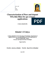Characterization of Pure and Dopant TiO2 Thin Films for Gas Sensors Applications
