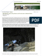 "FBR Reports- ""Burma Army Attacks and Forced Labor in Western Burma"""