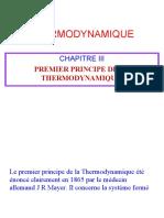 1er Principe de la Thermodynamique