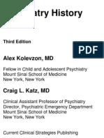 Psychiatry History