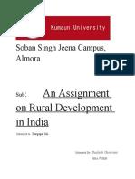 Assignment on Rural Development