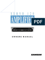 Samson Servo 120 - Power Amplifier Manual