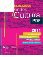 RESULTADOS FONDART 2011