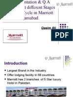QA standards of Marriott
