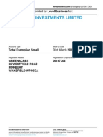 WEST CLIFF INVESTMENTS LIMITED  | Company accounts from Level Business
