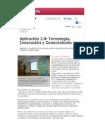 Reseña Conferencia Aplicación 2.0 Tecnología Innovación y Conocimiento