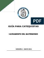 Guia Catequistas Matrimonio v1 - Mayo 2011
