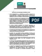 Propuesta de Programa Económico 2009