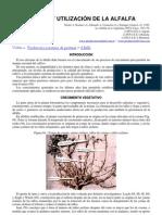 Alfalfa-crecimiento y Utilizacion